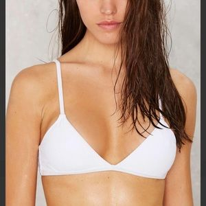 Alina bikini top - white